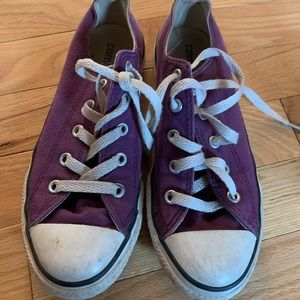 Gently used purple size 2 converse
